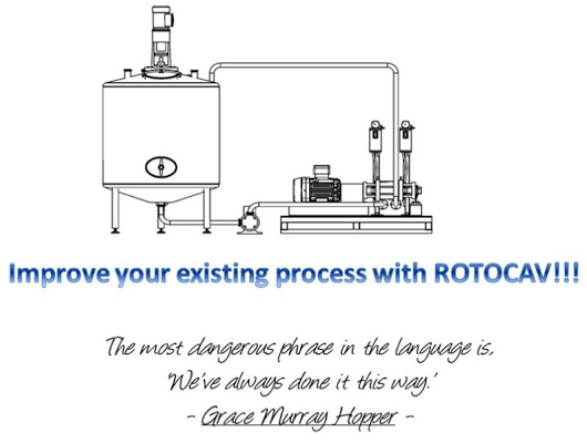 Process intensification with ROTOCAV